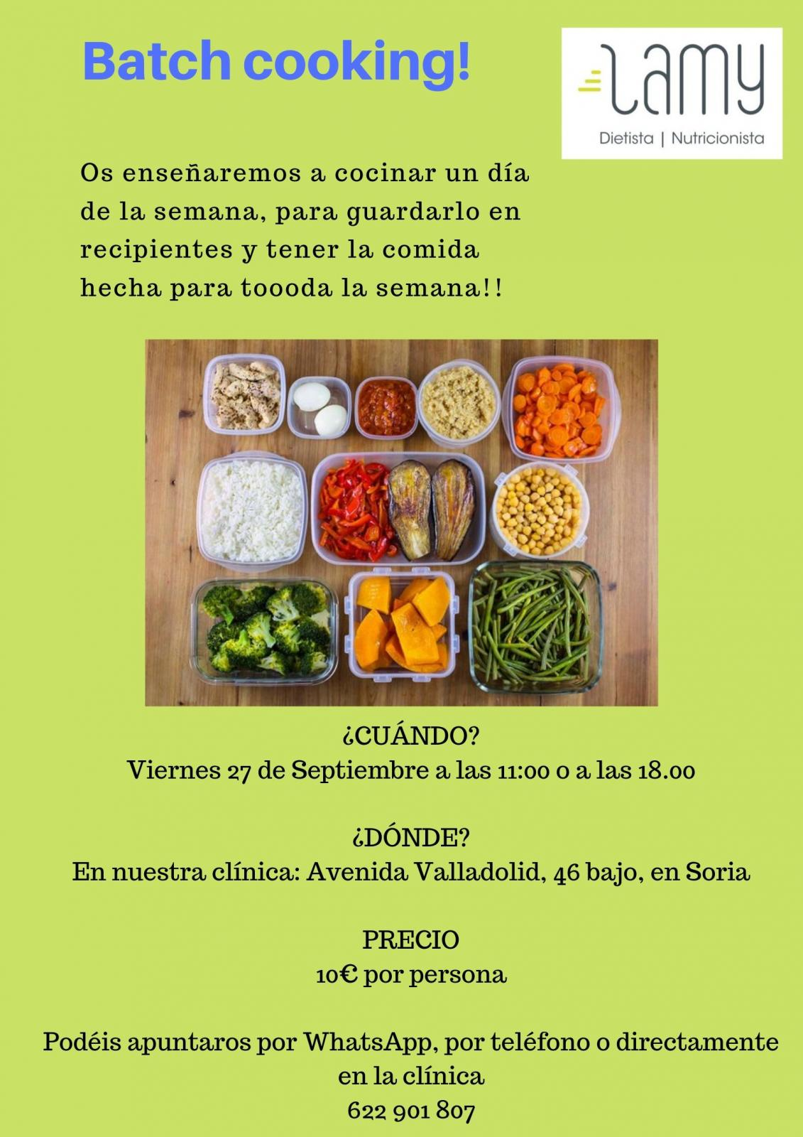 Dietista Nutricionista en Soria: Batch cooking