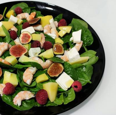 Dietista Nutricionista en Soria: Ensalada de espinacas con higos/brevas