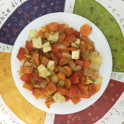 Dietista Nutricionista en Soria: Tofu natural salteado con verduras