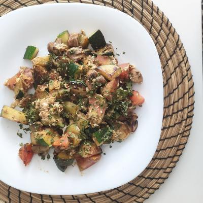 Dietista Nutricionista en Soria: Salteado de verduras con tofu natural y quinoa