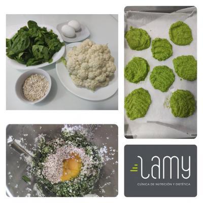 Dietista Nutricionista en Soria: Tortitas de espinacas y coliflor
