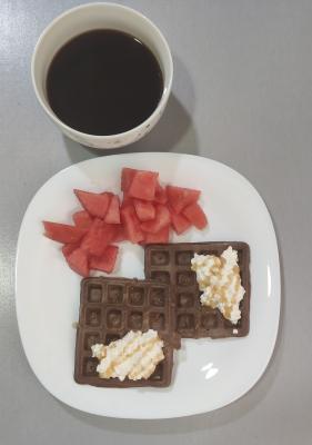 Dietista Nutricionista en Soria: Waffles de cacao
